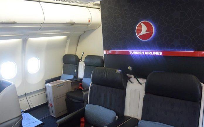 Turkish Airlines laptop u biznis klasi