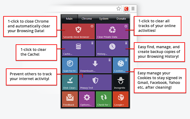 click and clean chrome extension