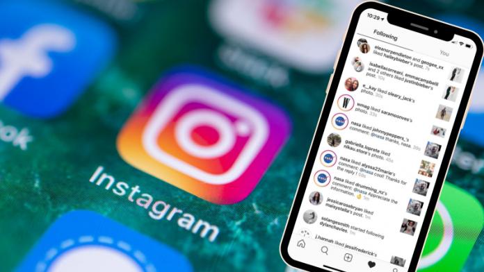 instagram folowing tab