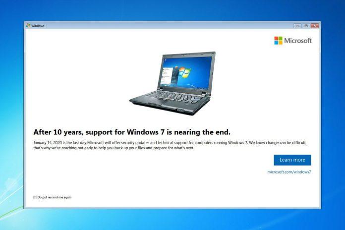 windows 7 se gasi