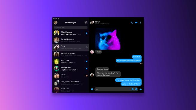facebook messenger desktop verzija